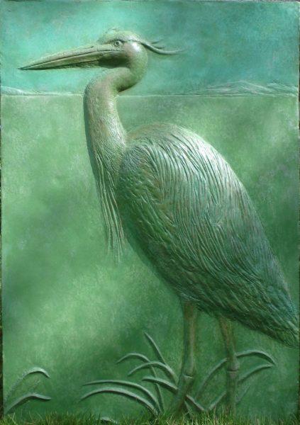 Sculpture Class Victoria - Joanie's Heron