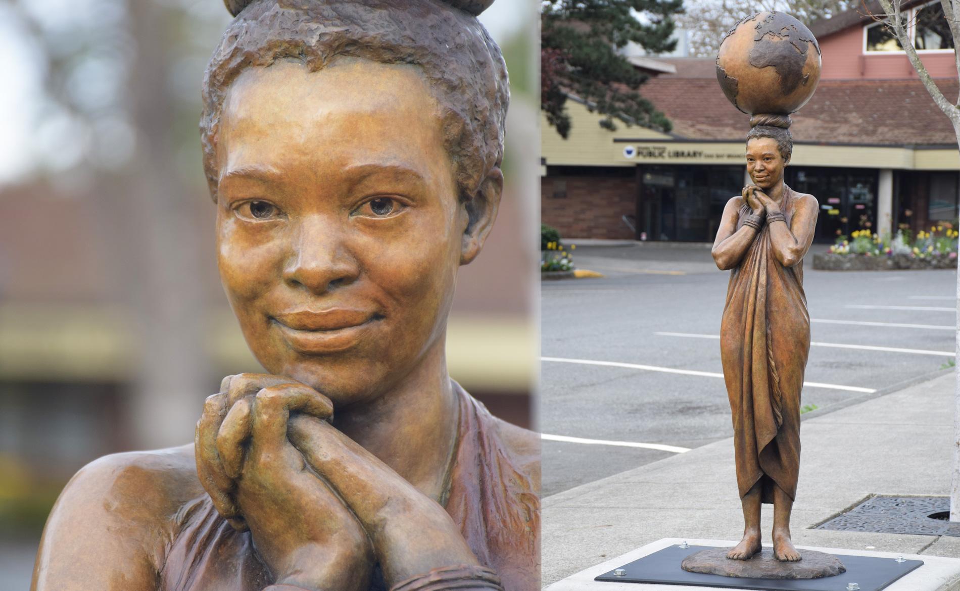 Mother of Peace Sculpture in Oak Bay